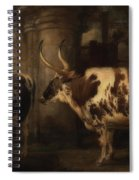 Portrait Of Two Oxen - The Property Of The Earl Of Powis Spiral Notebook