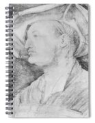 Portrait Of Ulrich Varnbiiler 1522 Spiral Notebook