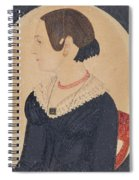 Portrait Of Woman In Black Dress Spiral Notebook
