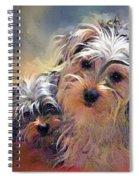 Portrait Of Yorkshire Terrier Puppy Dogs Spiral Notebook