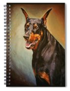 Portrait Of Zeus Spiral Notebook