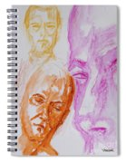 Portraits In 3b Spiral Notebook