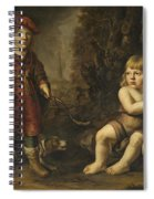 Portraits Of Two Boys In A Landscape One Dressed As A Hunter The Other St As John The Baptist Spiral Notebook