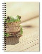 Posing Tree Frog Spiral Notebook