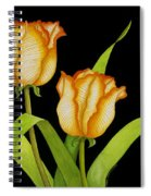 Posing Tulips Spiral Notebook