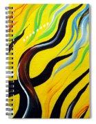 Positive Energy. Abstract Art Spiral Notebook
