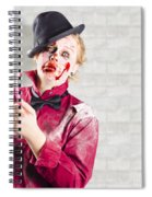 Possessed Girl With Bloody Toothbrush. Gum Disease Spiral Notebook
