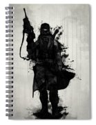 Post Apocalyptic Warrior Spiral Notebook