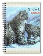 Postage Stamp - Snow Leopard By Kaye Menner Spiral Notebook