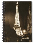 Postcard From Paris- Art By Linda Woods Spiral Notebook