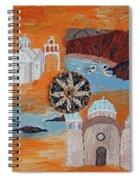 Postcard From Santorini Spiral Notebook