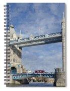 Postcard Home Spiral Notebook