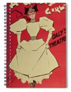 Poster Advertising A Gaiety Girl At The Dalys Theatre In Great Britain Spiral Notebook