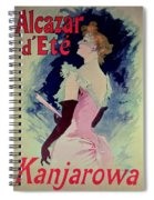 Poster Advertising Alcazar Dete Starring Kanjarowa  Spiral Notebook