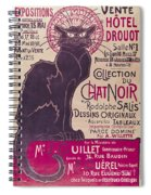 Poster Advertising An Exhibition Of The Collection Du Chat Noir Cabaret Spiral Notebook