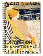 Poster Advertising The Exposition Internationale Daffiches Paris Spiral Notebook