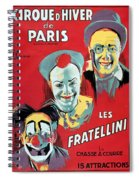Poster Advertising The Fratellini Clowns Spiral Notebook