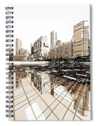 Poster-city 4 Spiral Notebook