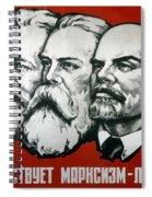Poster Depicting Karl Marx Friedrich Engels And Lenin Spiral Notebook