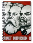 Poster Depicting Karl Marx Friedrich Engels And Lenin Spiral Notebook