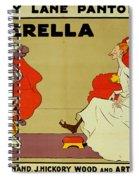 Poster For Cinderella Spiral Notebook