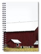 Poster Look American Red Barn With Silos I Niles Michigan Usa Spiral Notebook