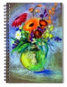 Pot Of Flowers Spiral Notebook