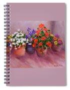 Pots Of Flowers Spiral Notebook