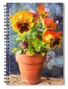 Potted Pansy Pencil Spiral Notebook