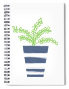 Potted Plant 1- Art By Linda Woods Spiral Notebook