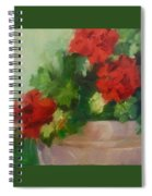 Potted Red Geraniums Spiral Notebook