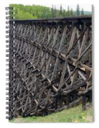 Pouce Coupe Train Wooden Trestle Spiral Notebook