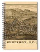Poultney Vermont Map Vintage Spiral Notebook