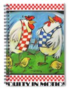 Poultry In Motion Poster Spiral Notebook