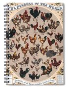 Poultry Of The World Poster Spiral Notebook
