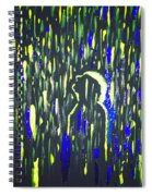 Pouring Rain And Light Spiral Notebook