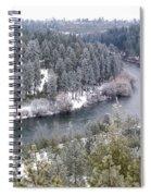 Powdered Spokane River Spiral Notebook