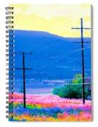 Power Lines 3 Spiral Notebook