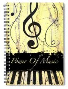 Power Of Music Yellow Spiral Notebook