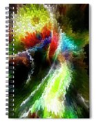Powwow Dancer Abstract Spiral Notebook