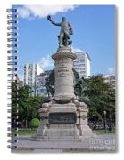 Praca Paris In Rio De Janeiro Spiral Notebook