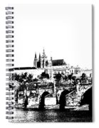 Prague Castle And Charles Bridge Spiral Notebook
