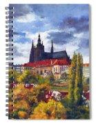 Prague Castle With The Vltava River Spiral Notebook