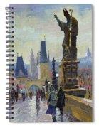 Prague Charles Bridge 04 Spiral Notebook