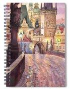 Prague Charles Bridge Night Light 1 Spiral Notebook