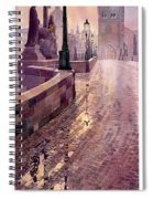 Prague Charles Bridge Night Light Spiral Notebook