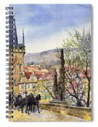 Prague Charles Bridge Spring Spiral Notebook