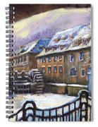 Prague Chertovka Winter 01 Spiral Notebook
