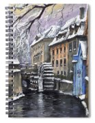 Prague Chertovka Winter Spiral Notebook