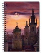 Prague City Of Hundres Spiers Spiral Notebook